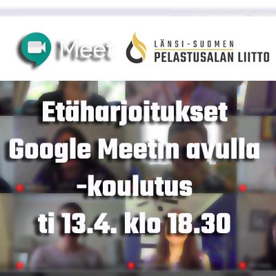 Google Meet -alusta etäharjoitusten pitoon 13.4.